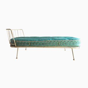 Mid-Century White Metal Daybed with Mattress, 1950s