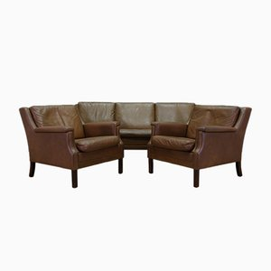 Vintage Danish Leather Living Room Set