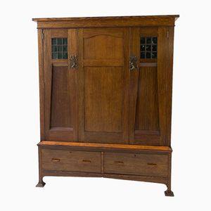 Englischer Arts & Crafts Kleiderschrank oder Armoire, 1900er