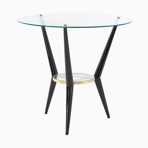Italian Glass Coffee Table, 1950s