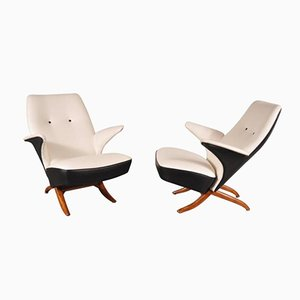 Dutch Penguin Chairs by Theo Ruth for Artifort, 1957, Set of 2