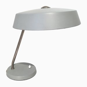 Lampada da tavolo Bauhaus grigia, anni '60