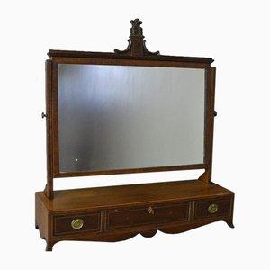 Antique Georgian Mahogany Inlaid Swing Mirror