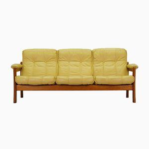 Dänisches Mid-Century Sofa in Gelb