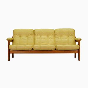Mid-Century Danish Sofa in Yellow
