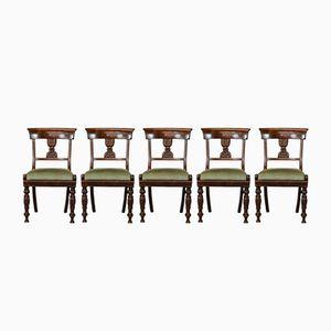 Wilhelm IV Mahagoni Esszimmerstühle, 6er Set