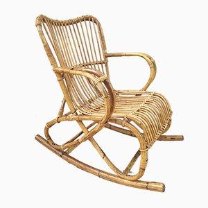 Marlène Rocking Chair in Rattan, 1960s