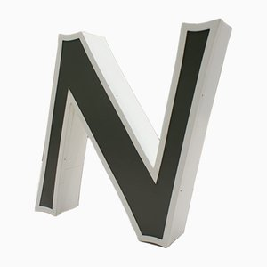 Large Letter N from Outdoor Advertising, 1970s