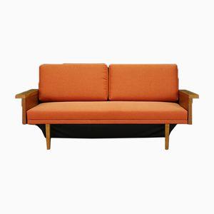 Dänisches Vintage Esche Sofa & Schlafsofa