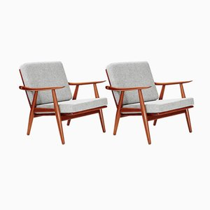 GE-270 Chairs in Dark Teak by Hans Wegner for Getama, 1956, Set of 2