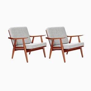 GE-270 Stühle aus Dunklem Teak von Hans Wegner für Getama, 1956, 2er Set