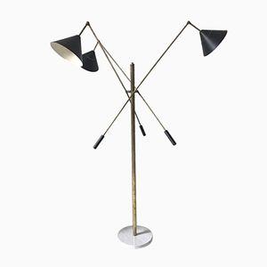 Vintage Italian Three-Light Floor Lamp from Stilnovo