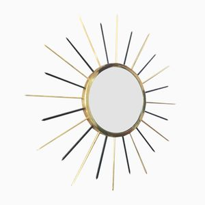 Sorcière Mirror in Gold and Black, 1960s