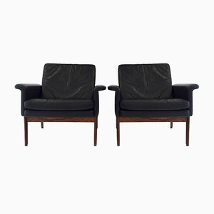 Jupiter Leather Chairs by Finn Juhl for France & Søn, 1960s, Set of 2
