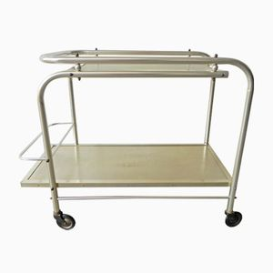 French Aluminum Serving Cart, 1950s