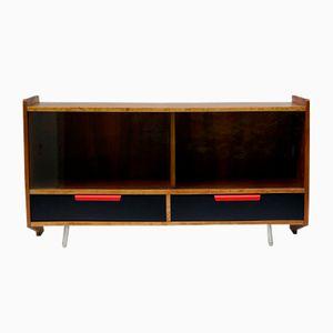 Meuble avec Vitrine en Verre par W. Leśniewski pour Bydgoszcz Furniture Factory, Pologne