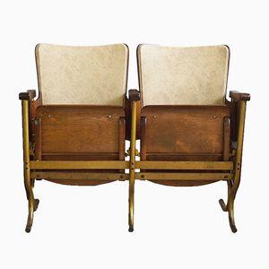 Belgische Art Deco Zwei-Sitzer Kinobank, 1930er