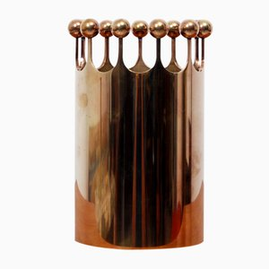 Mid-Century The Crown Brass Vase by Pierre Forsell for Skultuna