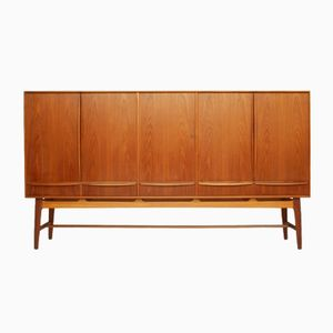 Danish Teak Highboard by Svend Åge Madsen for K. Knudsen & Søn, 1950s