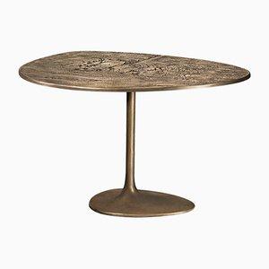 Tavolino Albeo III in ottone di Irene Maria Ganser