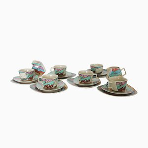 Vintage Flash Dessert Service by Dorothy Hafner for Rosenthal