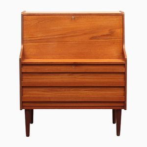 Danish Teak Veneer Secretary from Rooval, 1960s