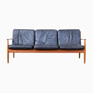 Mid-Century Three-Seater Sofa by Grete Jalk for France & Søn