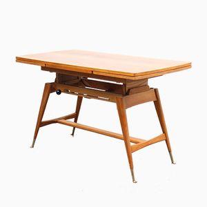 Table de Salle à Manger ou Table Basse Mid-Century en Hêtre & Noyer