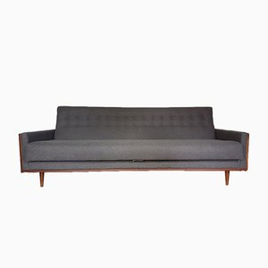 Mid-Century American Teak Sofa in Grey Wool from G-Plan/E. Gomme