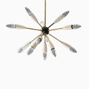 Mid-Century Modernist 12-Armed Sputnik Ceiling Lamp