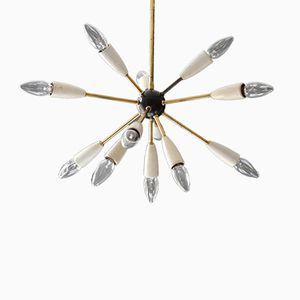 Plafonnier Sputnik Mid-Century Moderniste à 12 Bras