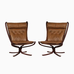 High Back Falcon Chairs by Sigurd Ressell for Vatne Møbler, 1970s