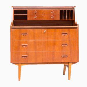 Secretaire vintage con scrivania allungabile e cassetti, Scandinavia