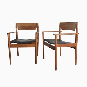 PJ 4-2 Armchairs by Grete Jalk for P. Jeppesen, 1950s, Set of 2