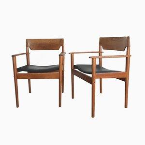 PJ 4-2 Armlehnstühle von Grete Jalk für P. Jeppesen, 1950er, 2er Set