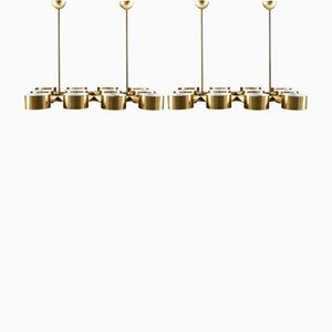 Large Swedish T363/12 Brass Chandeliers by Hans-Agne Jakobsson, 1970s, Set of 2