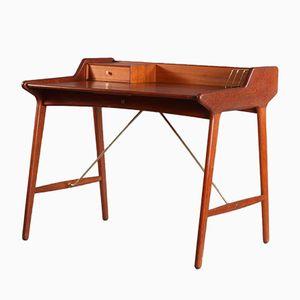 Mid-Century Danish Teak Desk by Arne Wahl Iversen