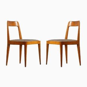 Vintage A7 Stühle von Carl Auböck für Österreichische Werkstätten, 1950er, 2er Set