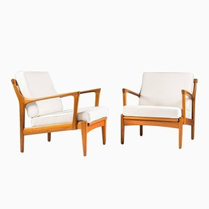 Mid-Century Kuba Easy Chairs by Bertil Fridhagen for Bröderna Andersson, Set of 2