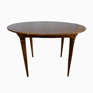 Round Walnut Dining Table by José Cruz de Carvalho for Altamira, 1950s