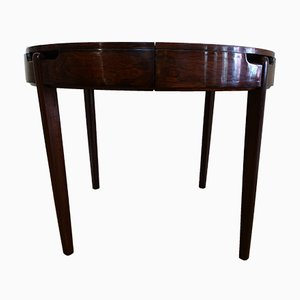 Round Rosewood Dining Table by José Espinho for Olaio, 1950s