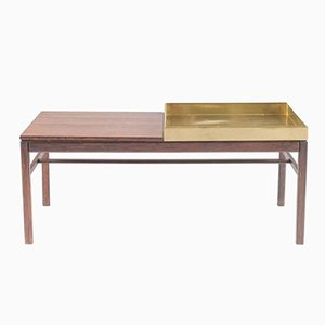 Scandinavian Casino Table in Rosewood and Brass by Engström & Myrstrand