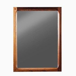 Dänischer Spiegel mit Rahmen aus Palisander von Aksel Kjersgaard für Odder Møbler