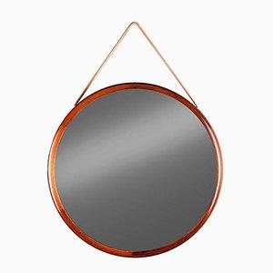 Runder Spiegel mit Palisander Rahmen von Uno & ÖSten Kristiansson für Luxus