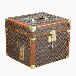Vintage Hat Trunk with Key by Moynat
