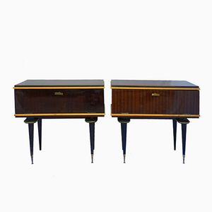 French Vintage Bedside Cabinets, 1970s, Set of 2
