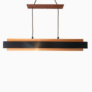 Copper & Black Metal Dano Pendant Lamp by Jo Hammerborg for Fog & Mørup, 1960s