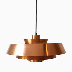 Danish Nova Copper Pendant Light by Jo Hammerborg for Fog & Mørup, 1960s