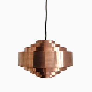 Danish Ultra Copper Pendant Light by Jo Hammerborg for Fog & Mørup, 1960s