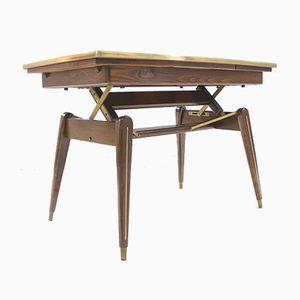 Table de Salle à Manger ou Table Basse à Hauteur Ajustable, 1950s